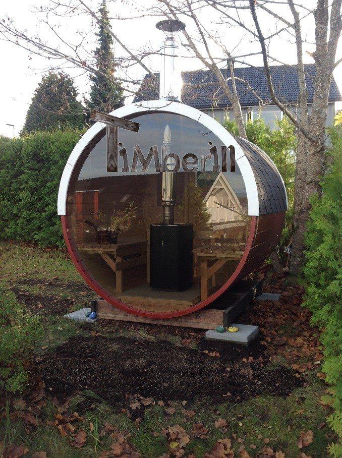 Sauna A Botte Con Finestra Panoramica Completa