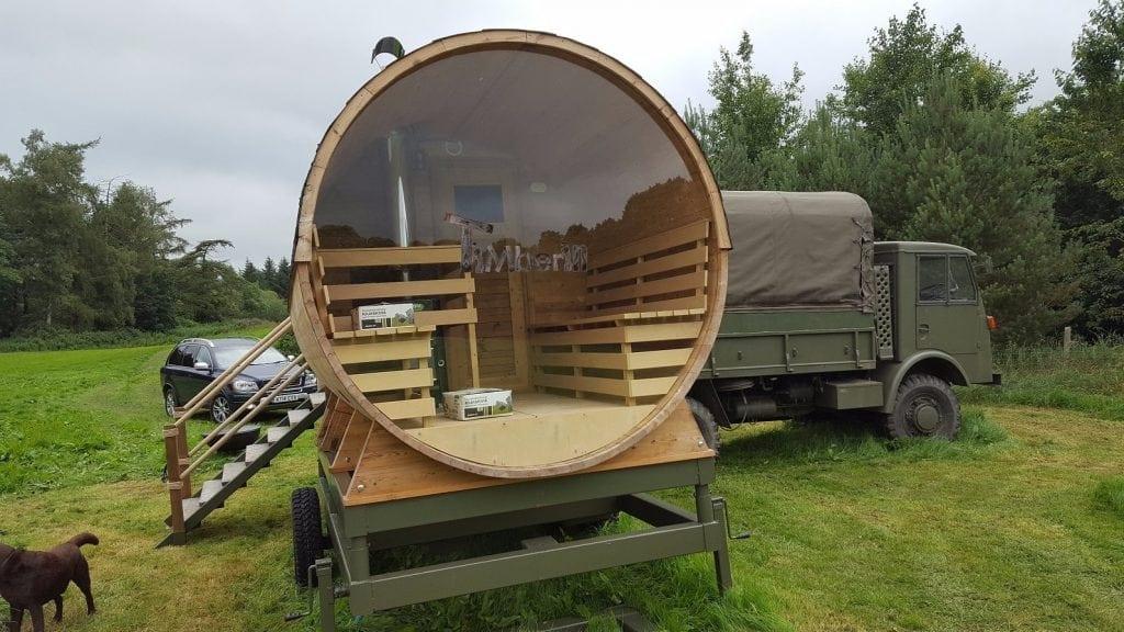 Outdoor Sauna Barrel Thermo Wood, Gavin Mackie, Lisburn, UK (4)