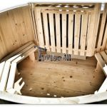 Kit vasca idromassaggio da esterno in legno