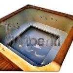 Vasca idromassaggio jacuzzi da esterno quadrata 2x2 220x220cm