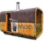 Sauna a legna da esterno con spogliatoio