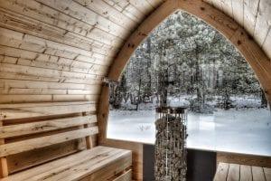 Sauna All'aperto Con Finestra Panoramica