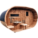 Sauna finlandese a botte per giardino