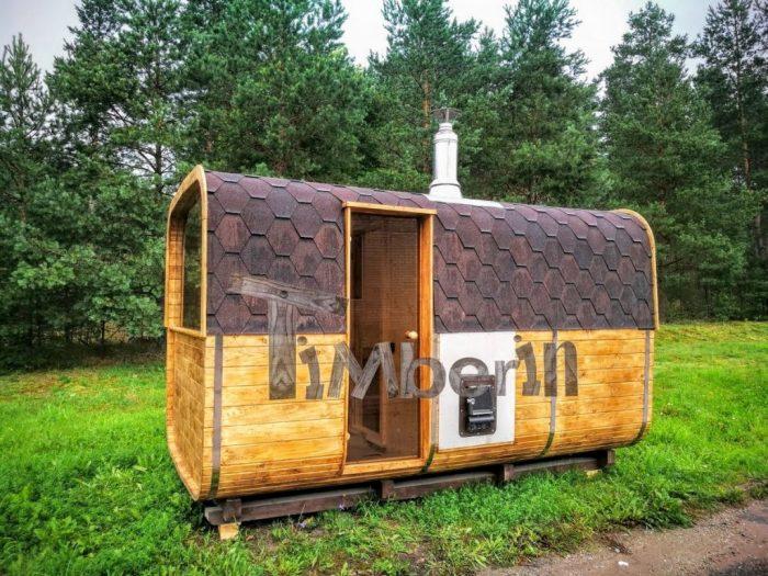 Sauna Da Esterno Con Stufa A Legna