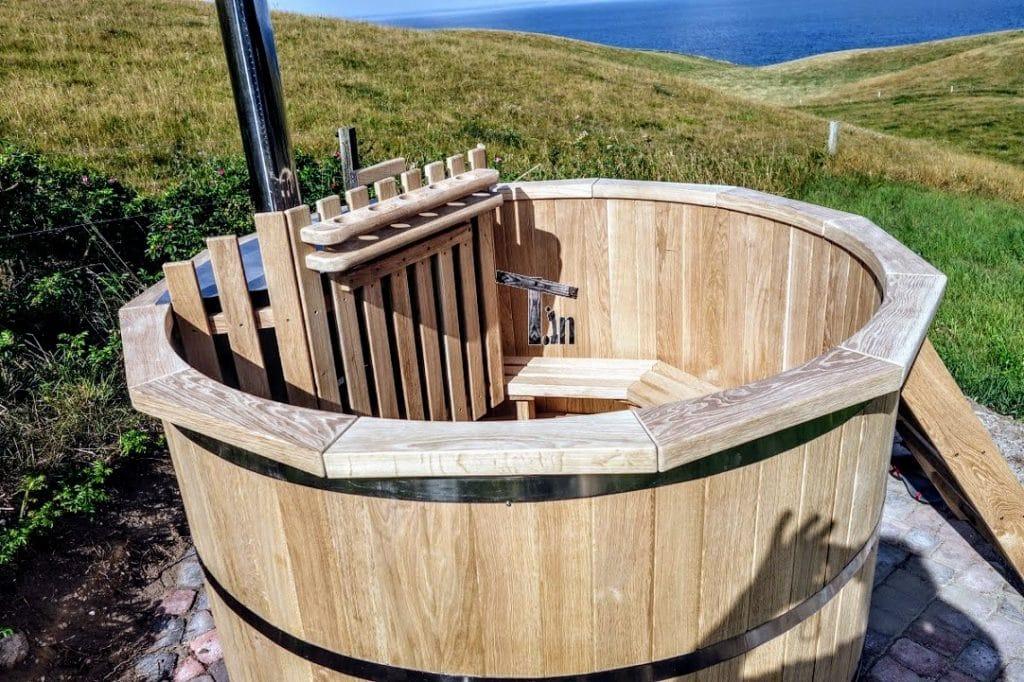 Vasca tinozza a botte in legno